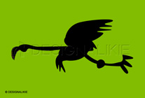 飛ぶフラミンゴ