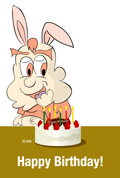 Free birthday card illustration