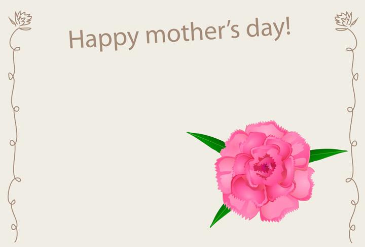 イラスト イラスト 無料 カード : 母の日カード 無料|イラスト ...