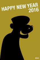 2016年申年の猿キャラ年賀状