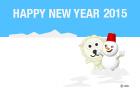 雪だるまの年賀状