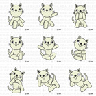 9ポーズの猫