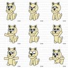 9ポーズの犬