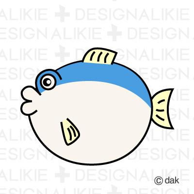 Puffer fish character