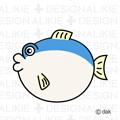 ふぐの魚キャラ
