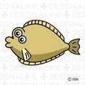 ヒラメの魚キャラ