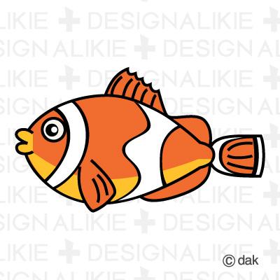 Clown fish character