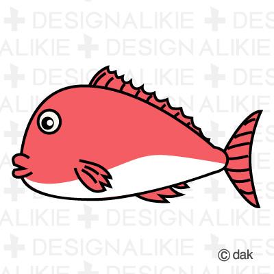 Sea bream fish character