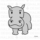Free Hippo Illustrations