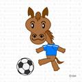 サッカーする馬キャラクター
