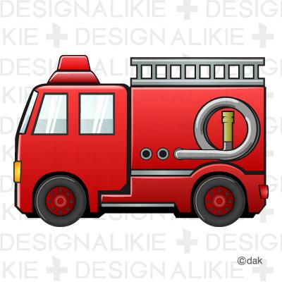 イラスト お正月 イラスト 簡単 : Fire Truck Clip Art