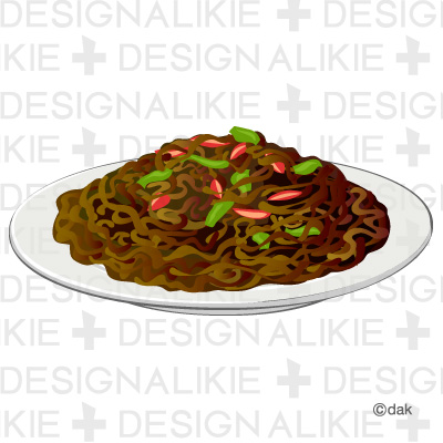 Yakisoba Clip Art : 子どもの年賀状 : 年賀状