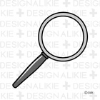 Free magnifying glass icon