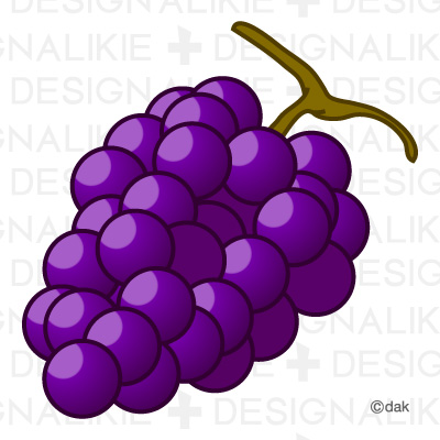 Grape Clip Art Free : 文房具 カード : カード