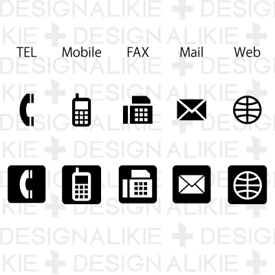 Cell Phone Icon For Business Card | Gallery