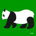 シンプルデザインのパンダ