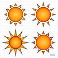 4種類の太陽アイコン