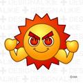 猛暑の太陽