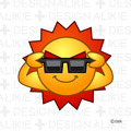 サングラスの太陽