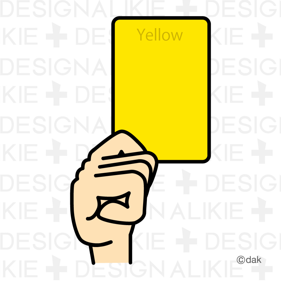 Yellow card|Pictures of clipart and graphic design and illustration ...
