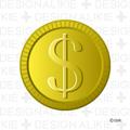 ドルマークのコイン
