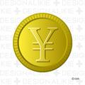 お金の円マークのコイン