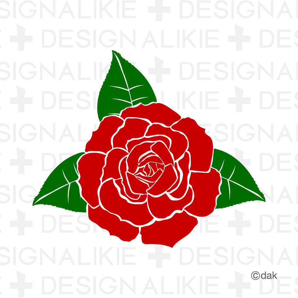 Free flower material of rose