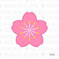 Flower symbol of the cherry tree