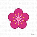 Flower symbol of plum