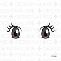 アニメ風の目