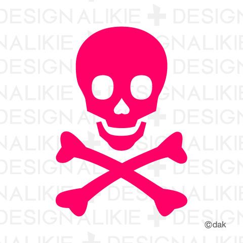 ピンクのドクロマーク