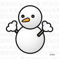 天気の雪だるまマーク