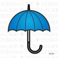 Weather mark of rain umbrella