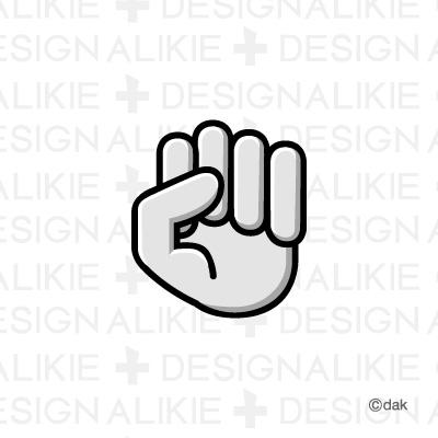 Rock hand mark