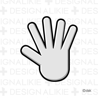 Paper hand mark