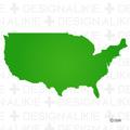 シルエットのアメリカ地図