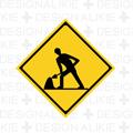 工事中の道路標識