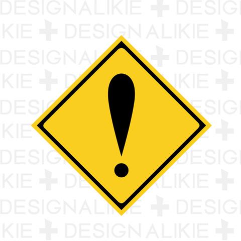 注意マークの標識 注意マークの標識の無料イラスト素材|dakIMG(ダックイメージ)