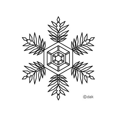 雪の結晶フリー