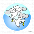 Free illustrations of birds and clouds