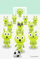 動物達のサッカー
