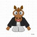 新年の挨拶をする馬キャラ