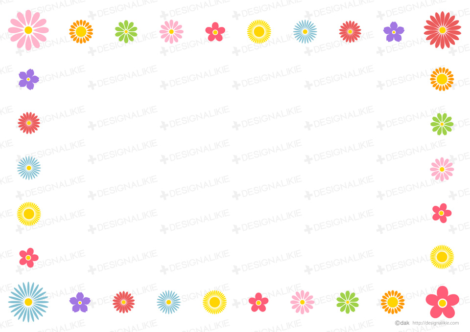 Free frame of pretty floral