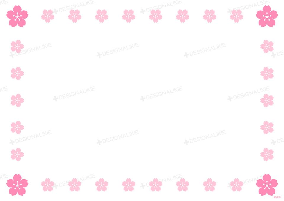 Frame material free of Sakura