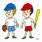 野球をする子ども