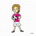 女の子のサッカー選手