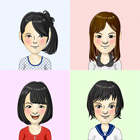 Junior high school students of four girls