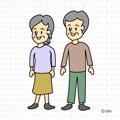 年配の両親