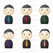 男性10人のピンアイコン