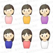 女性10人のピンアイコン
